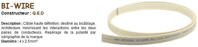 Les caractéristiques du câble utilisé.