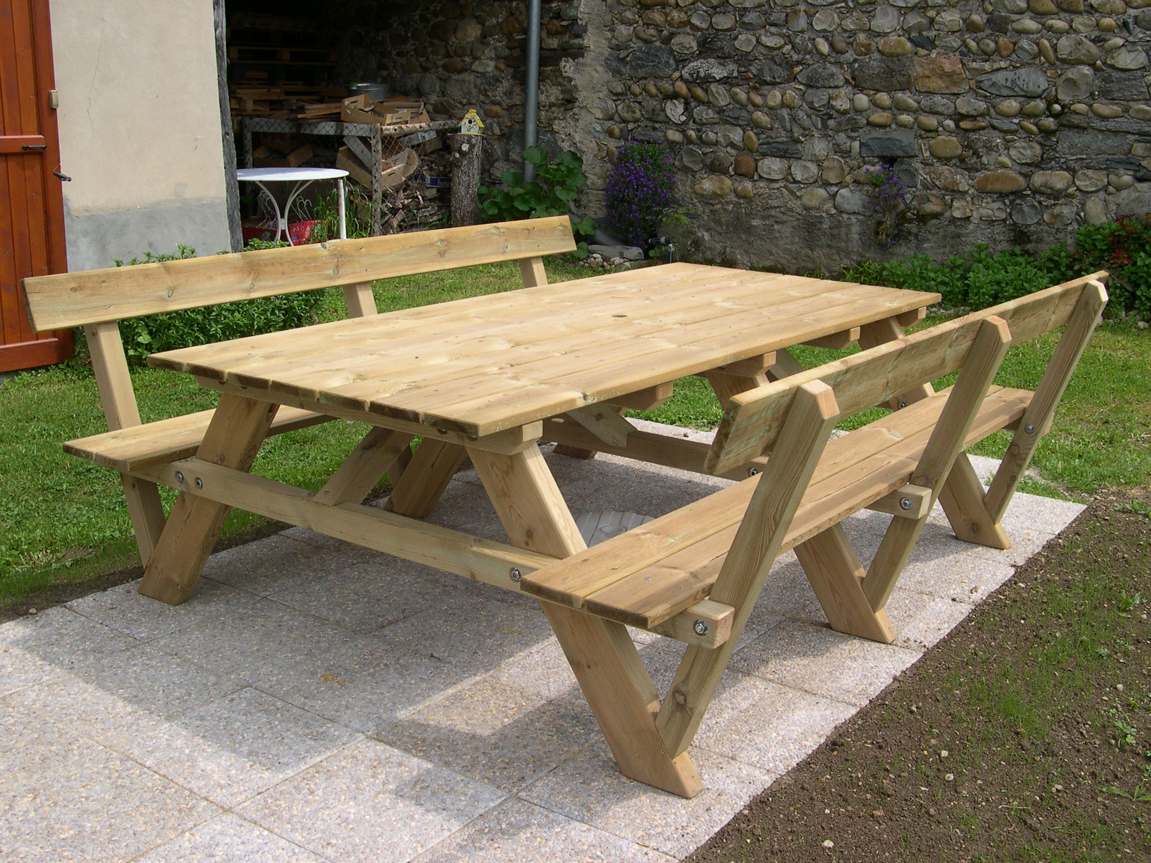 Construction d\'une table pique-nique | Asv850